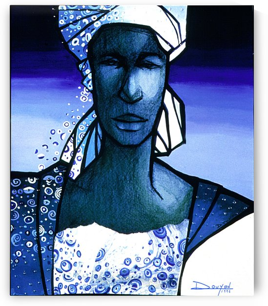 Blue woman by Marie-Denise Douyon
