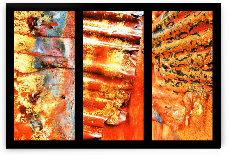 Corrugated Iron Triptych 1 by Lexa Harpell