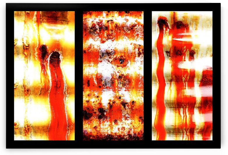 Corrugated Iron Triptych 2 by Lexa Harpell