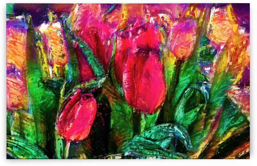 Tulips Color by George Bloise