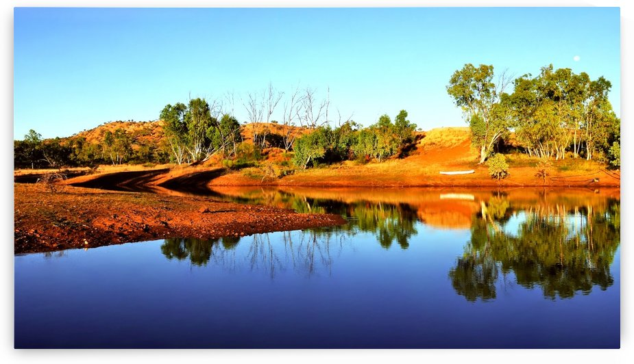 Sunrise on an Outback Dam by Lexa Harpell