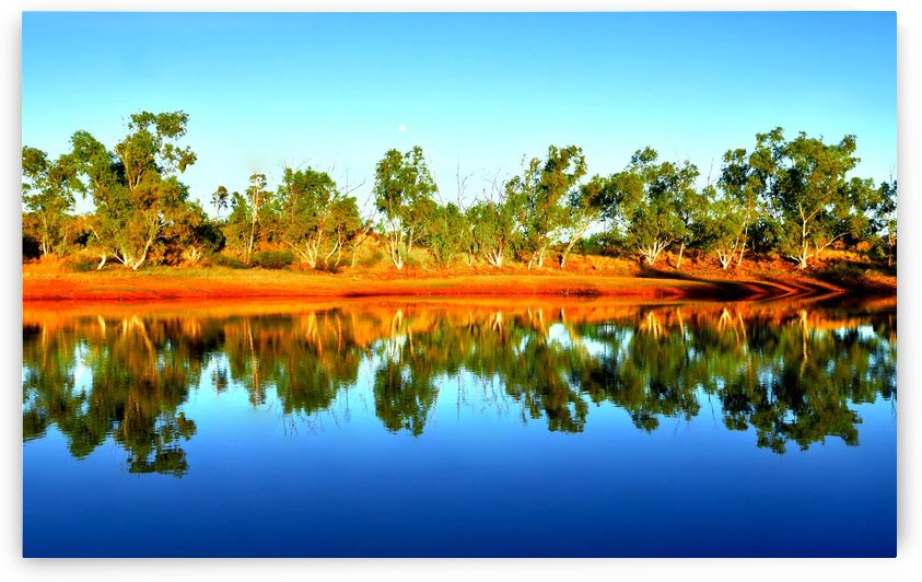 Reflections on an Outback Dam by Lexa Harpell