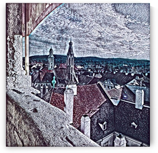 Goat church from the fire tower by Ferenc Lengyel