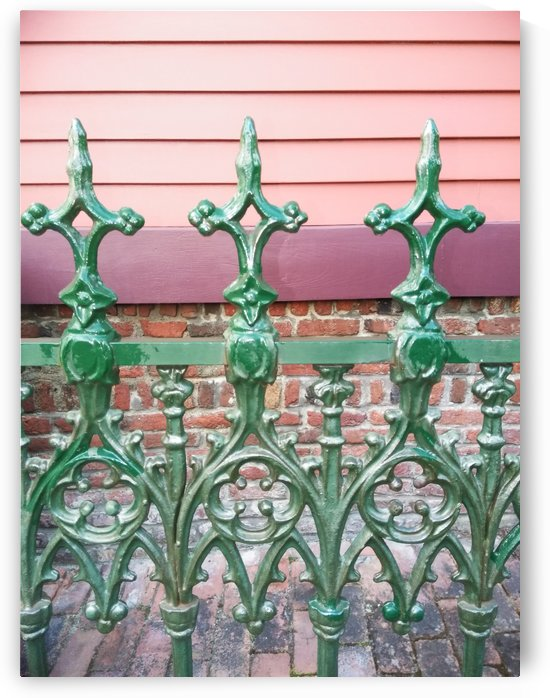 The 3 of a Kind Lime Stone Gate. by Michelle Ramos