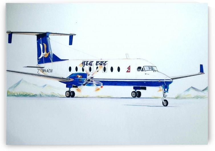Buddha Air- Beech 1900D  by Pramod Sharma