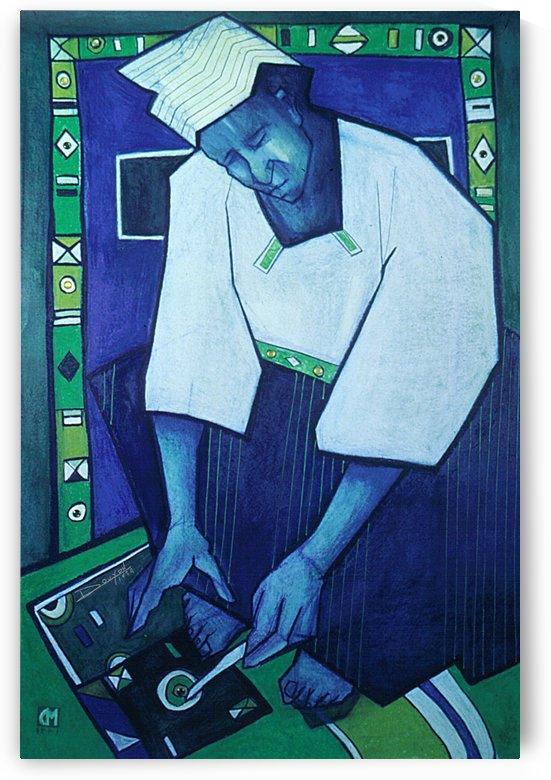 Mozaik bleu by Marie-Denise Douyon