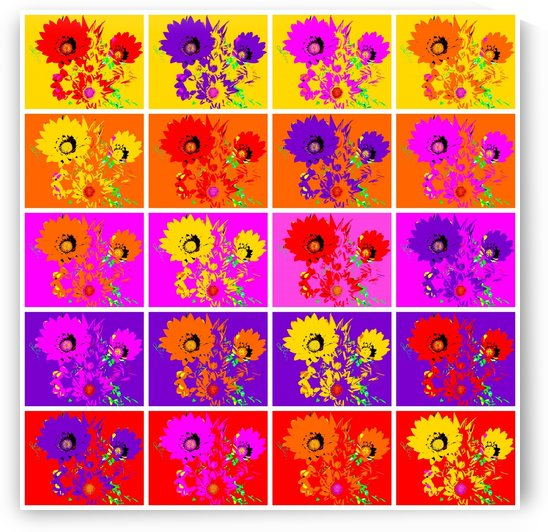 Rainbow Flowers - Collage 1 by Lexa Harpell