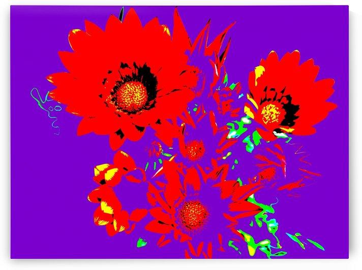 Rainbow Flower - Purple by Lexa Harpell