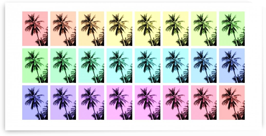 Palm Tree Collage 2 by Lexa Harpell