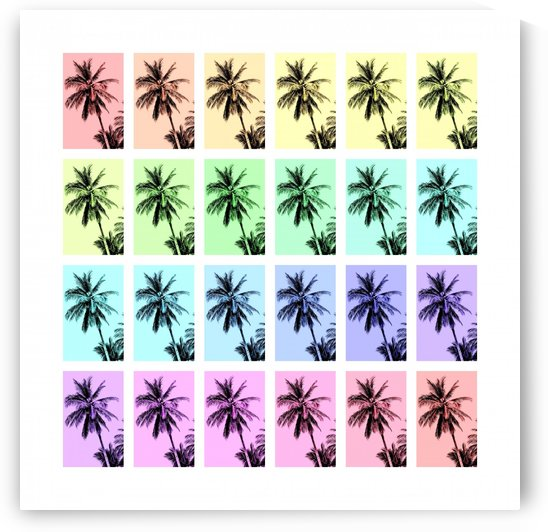 Palm Tree Collage 3 by Lexa Harpell