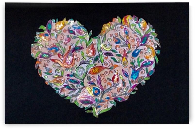 Hearts & Flowers  by Zaramar Paintings
