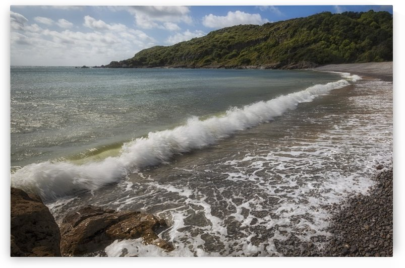 Crashing waves at Pwll Du Bay by Leighton Collins