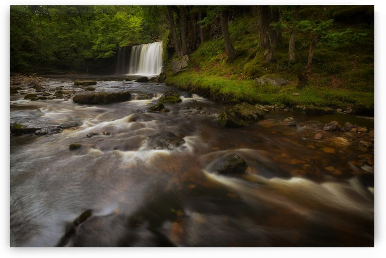 Sgwd Ddwli Isaf waterfall South Wales by Leighton Collins