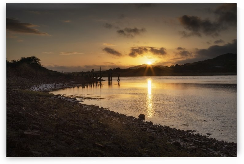 Sunset over the Neath estuary by Leighton Collins