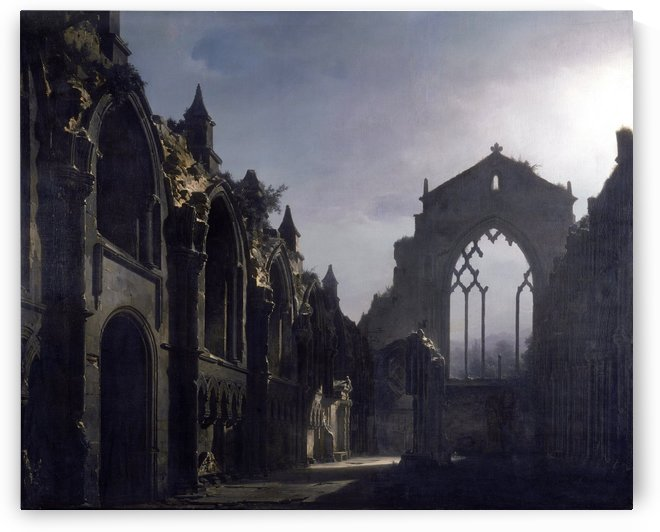 The Ruins of Holyrood Chapel by Louis-Jaques-Mande Daguerre