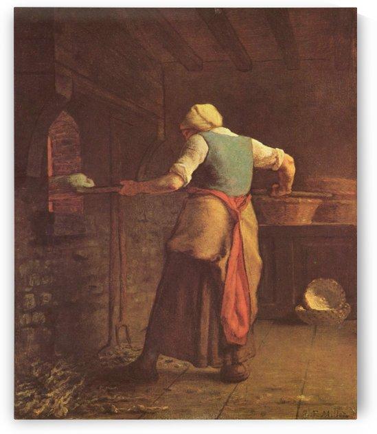 Making bread by Jean-Francois Millet