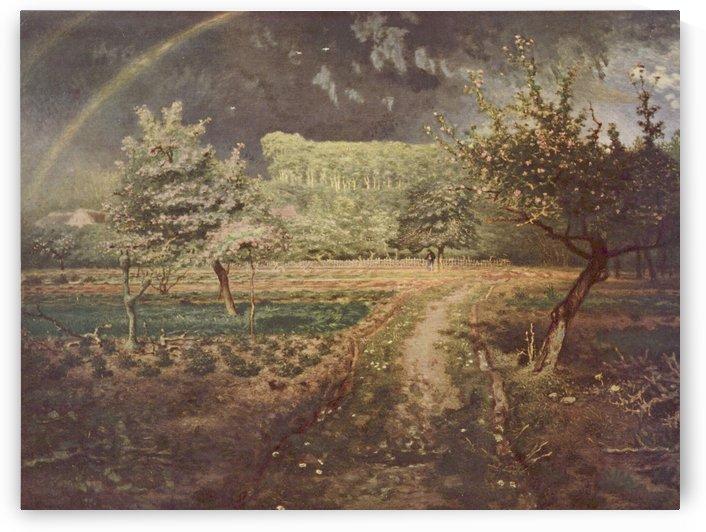 In the gardin by Jean-Francois Millet