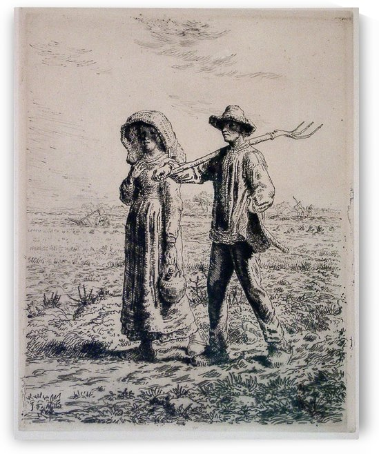 Going to Work by Jean-Francois Millet