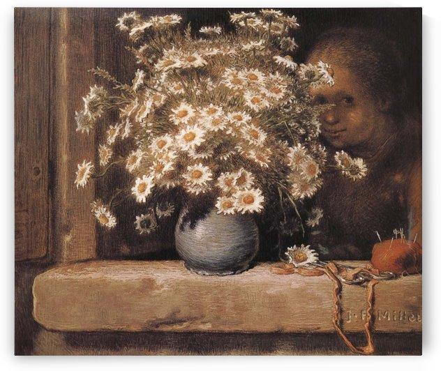 Bouquet de marguerites by Jean-Francois Millet