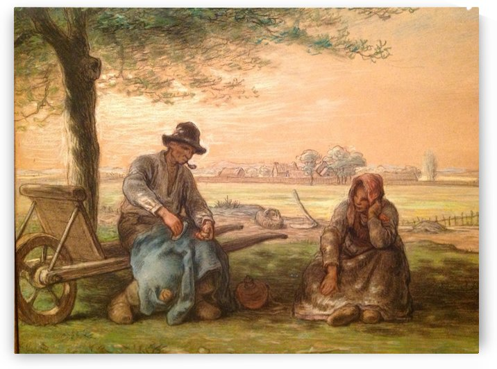 Peasants resting by Jean-Francois Millet