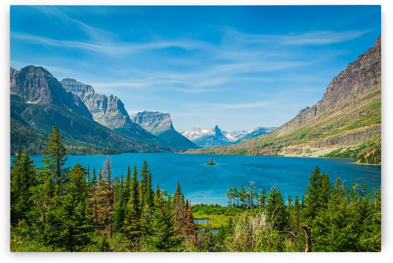 St. Marys Lake and Wild Goose Island by Scene Again Images: Photography by Cliff Davis