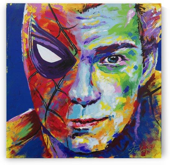 Spiderman_Portrait Art - Tadaomi - by Tadaomi Kawasaki