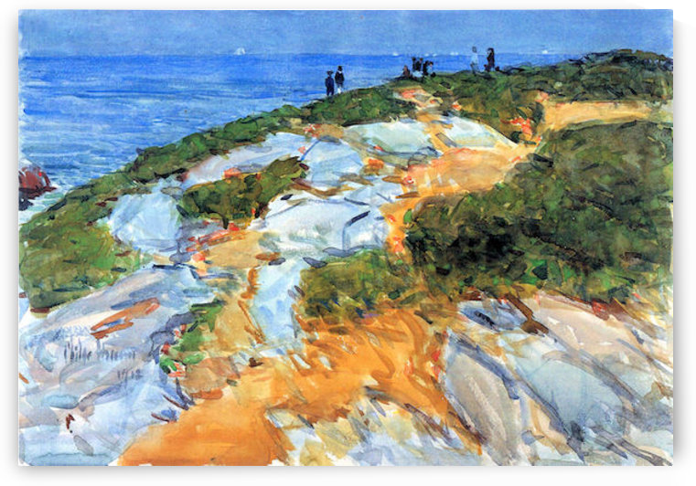 Sunday morning, Appledore by Hassam by Hassam