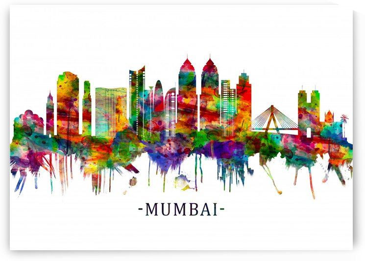 Mumbai India Skyline by Towseef Dar