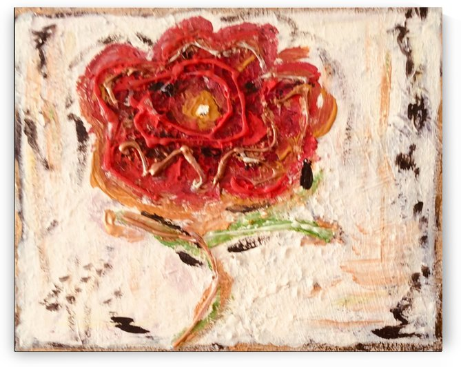 A Red Flower  by Zaramar Paintings