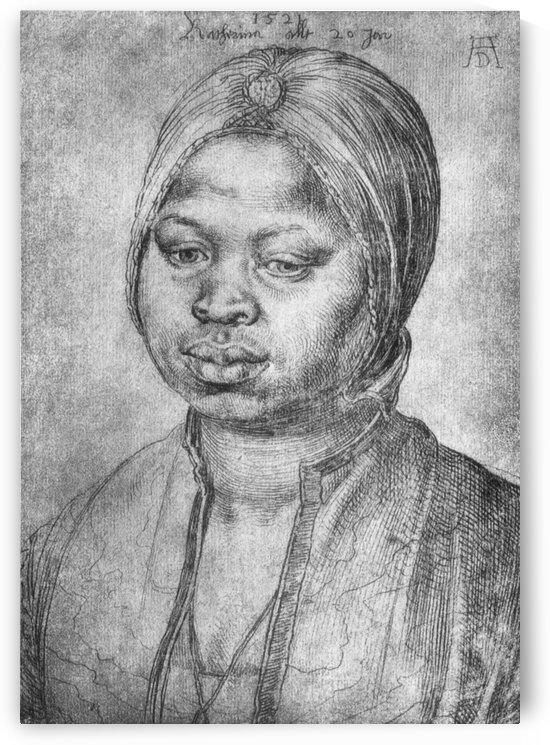 Portrait of African woman Catherine by Albrecht Durer