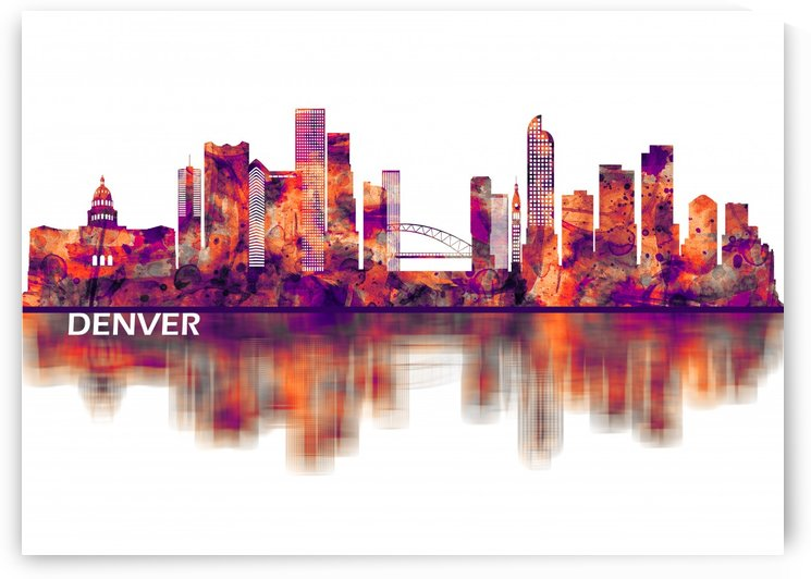 Denver Colorado Skyline by Towseef Dar