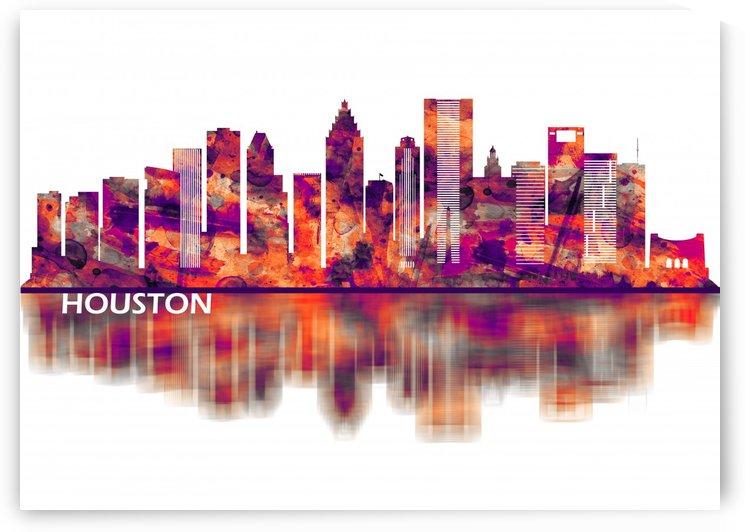 Houston Texas Skyline by Towseef Dar