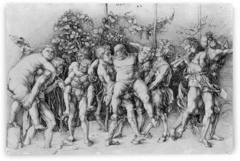 Bacchanal with Silenus by Albrecht Durer