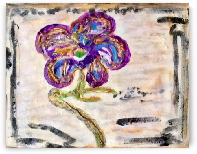 A Purple Flower  by Zaramar Paintings