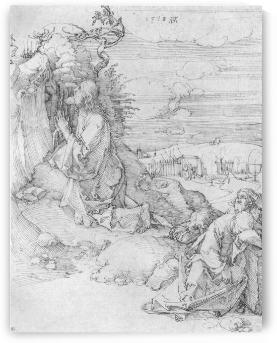 Praying in top of the hill by Albrecht Durer