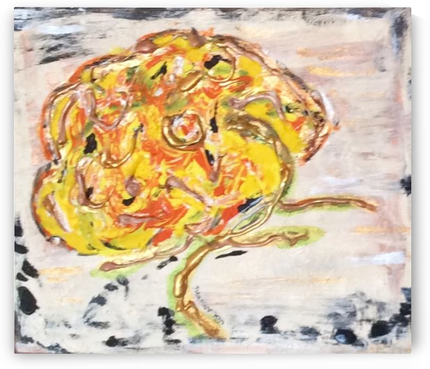 A Yellow Flower by Zaramar Paintings