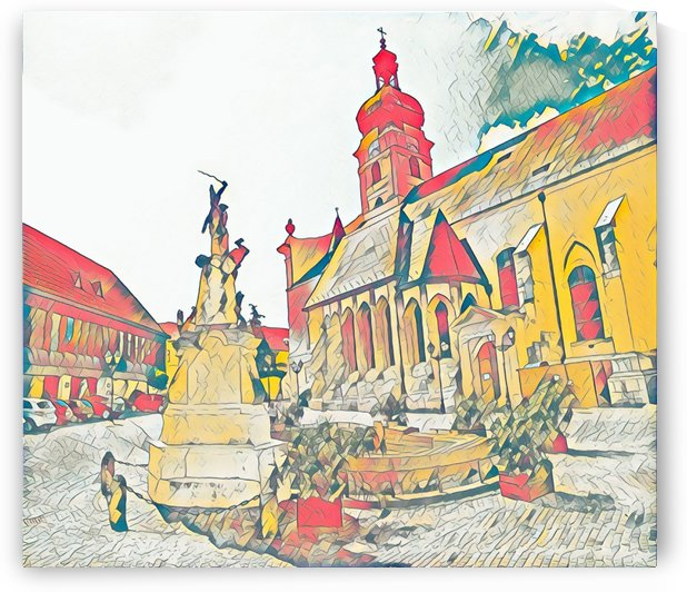 The Basilica of Győr by Ferenc Lengyel