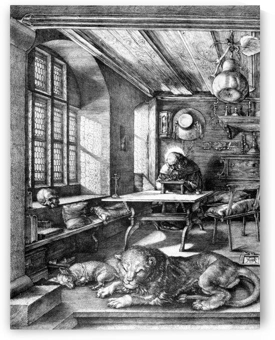 St Jerome in study by Albrecht Durer