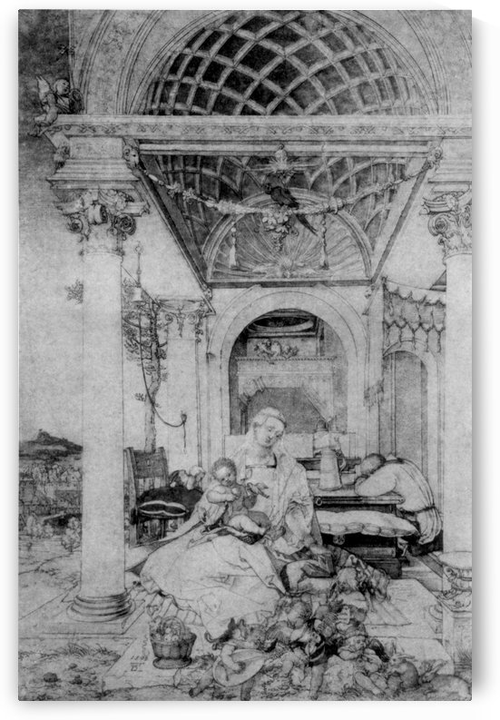 The holy family in a hall by Albrecht Durer