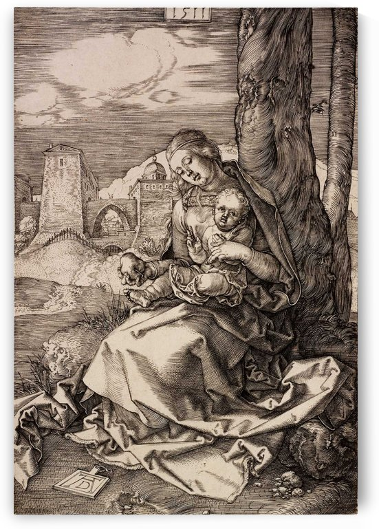 Mary with child and a pear by Albrecht Durer
