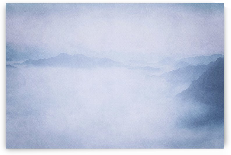 Sacred Cove Shrouded in Blue Mist by Leah McPhail