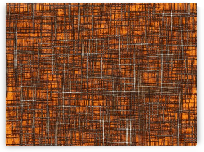 geometric square pattern drawing in orange brown by TimmyLA