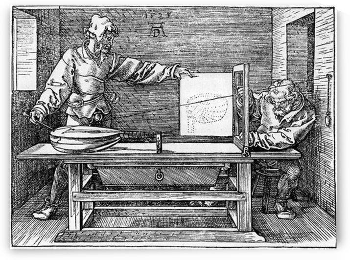 Man drawing a Lute by Albrecht Durer