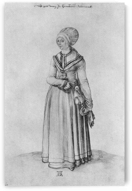 Nuremberg woman in house dress by Albrecht Durer