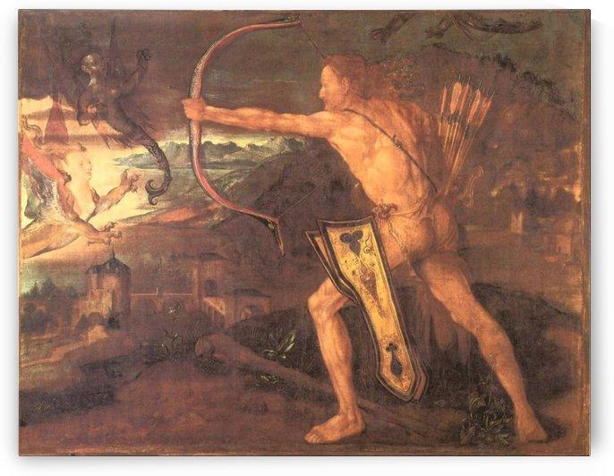 Hercules and the Stymphalian Birds by Albrecht Durer