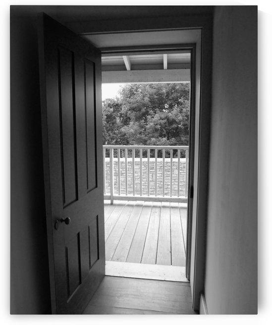 Open Door Black & White by Castle Green Enterprises