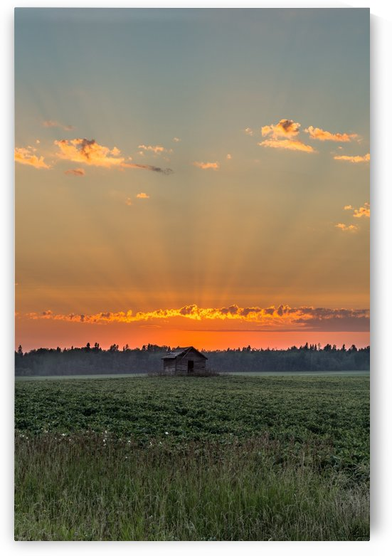 Sunset Hut by Jackson Brown