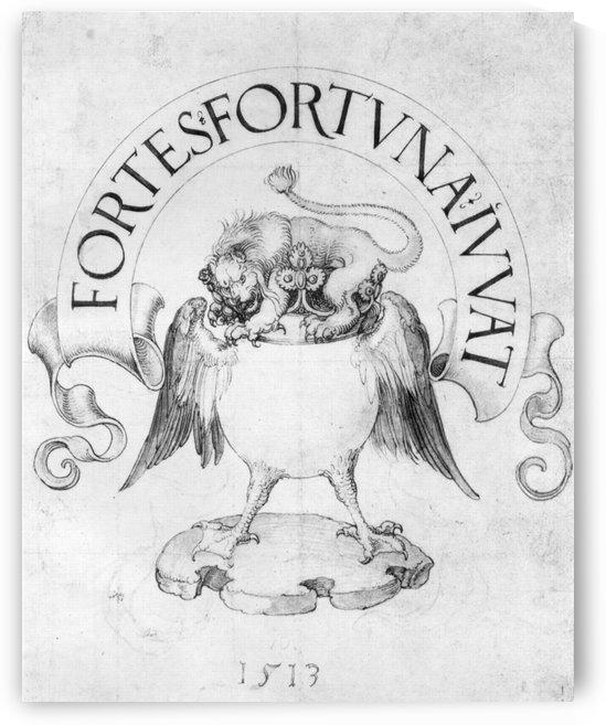 Fortes fortuna Ivvat by Albrecht Durer