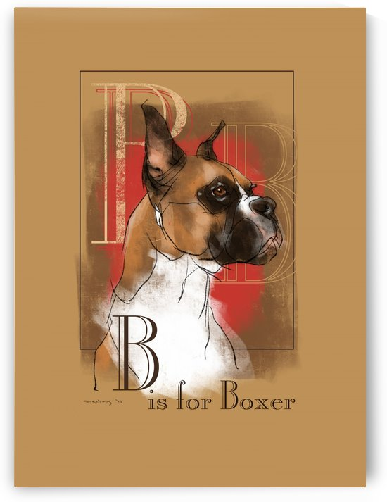 B is for Boxer by GentryArts