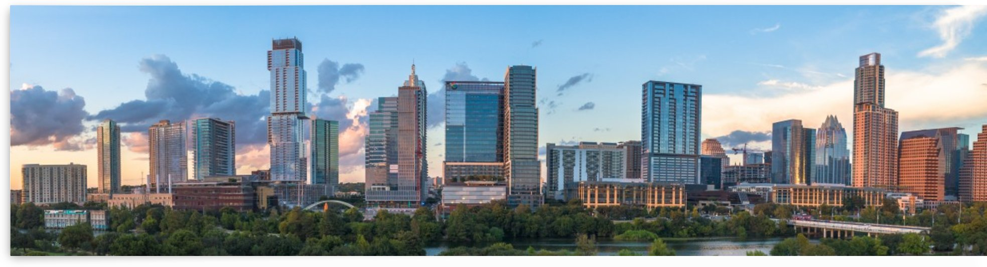 Austin TX Downtown Skyline by Infinity Design and Photography